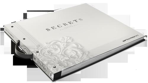 Tapetenmusterbuch der Kollektion Secrets