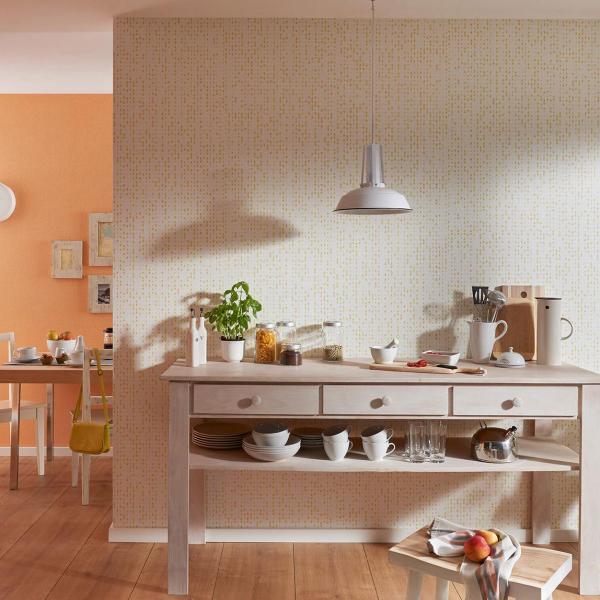 Wandgestaltung mit Vliestapete in Küche