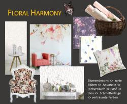Collage Wohntrend 2017 Floral Harmony