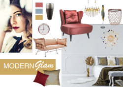Tapetentrends 2020 - modern glam