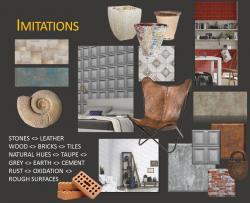 interior wall trend 2017: Imitations