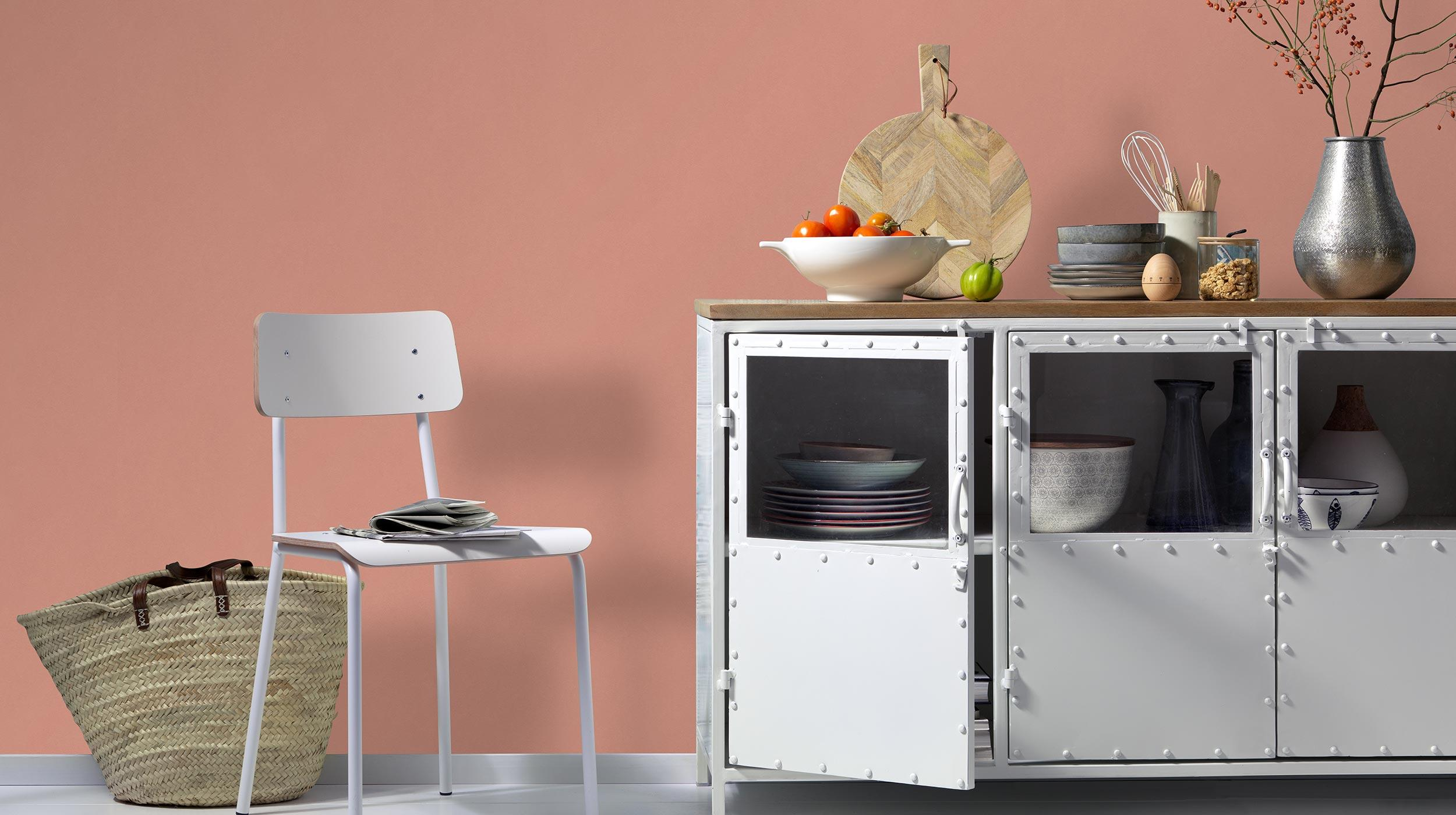 Vliestapete Unistruktur Kollektion Colour Stories in Wohnküche