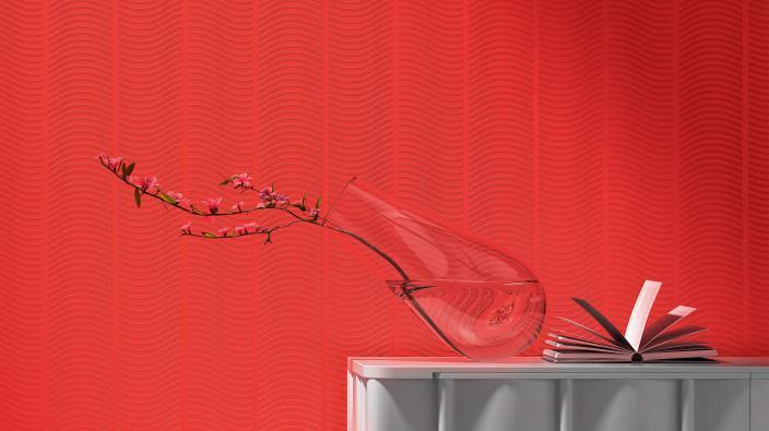 Überstreichbare Tapete aus der Kollektion RollOver Vision Vol.2 in rot
