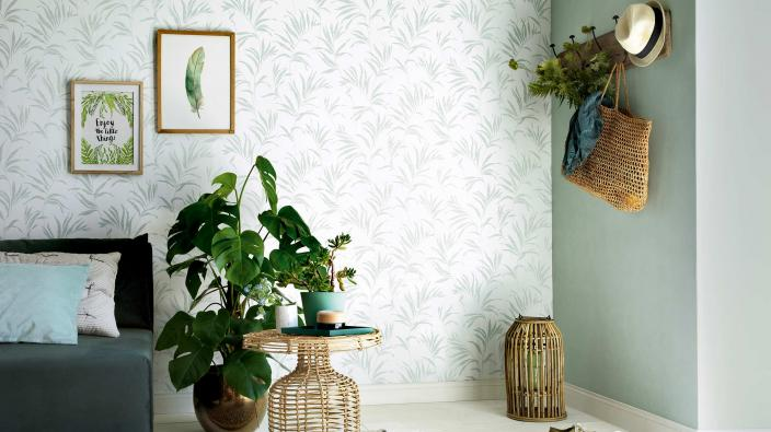 Entrance with non woven wallpaper collection nordic summer