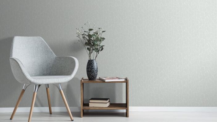 moderne Vliestapete in grau und dezenter Steinoptik