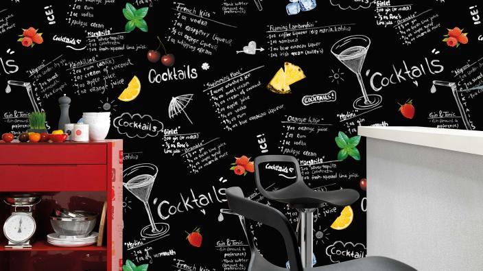 wild mix wallpaper kitchen
