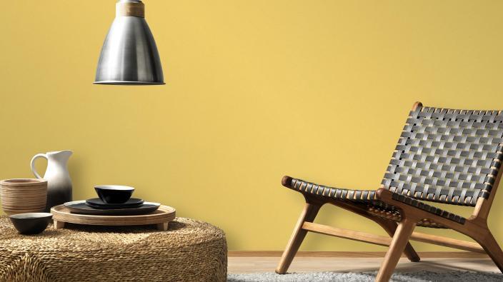 Vliestapete gelbe Unistruktur Kollektion Colour Stories