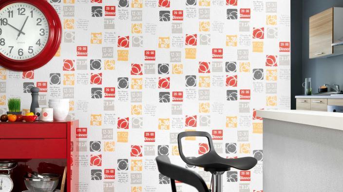 tapeten f r k che und bad la maison erismann cie gmbh. Black Bedroom Furniture Sets. Home Design Ideas