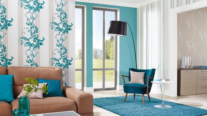 Tapeten wohnzimmer beispiele grün  Tapeten Wohnzimmer Beispiele Grün ~ artownit for .