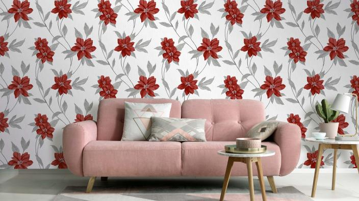 wallpaper collection spring red blossoms