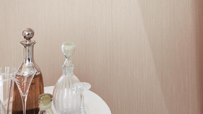 Textiltapete in creme aus der Kollektion Elysion