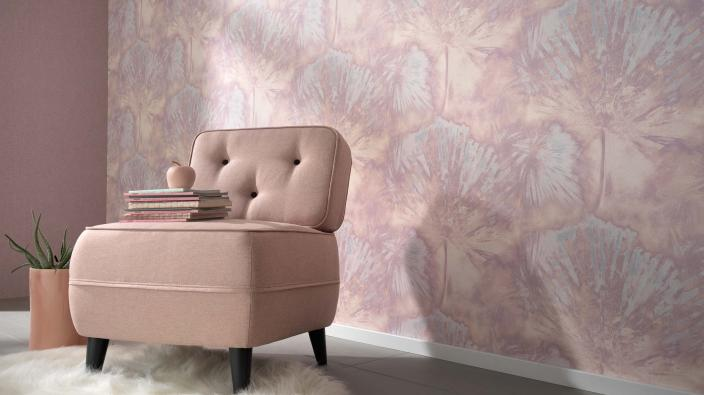 Tapetenmuster aus der Kollektion Acquabella in rosa
