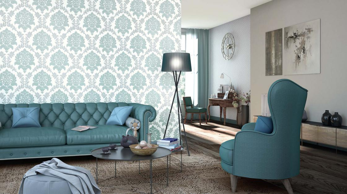 Wall design with exclusive wallpapers from collection fascination