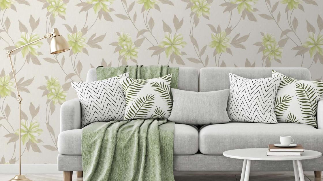 wallpaper spring green blooms