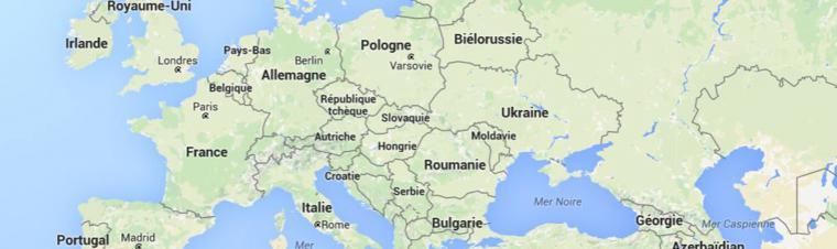 Landkarte Europa in Französisch