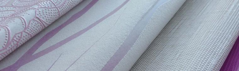 Tapetenmuster in weiß und flieder aus der Kollektion Summer Breeze
