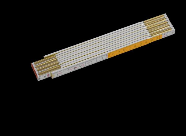 Vinyltapeten Einkleistern : Der Zollstock hilft beim Vermessen des Raumes bzw. beim Abmessen der