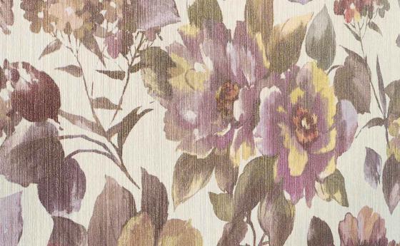 Tapetenmuster mit üppigem Blütenmotiv