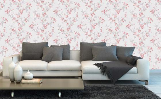wallpaper from collection blossom in red