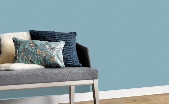 Vliestapete blaue Unistruktur Kollektion Colour Stories