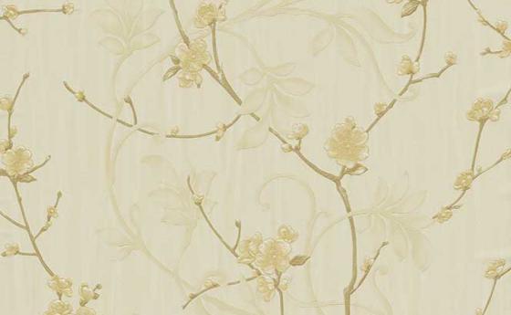 Romantische Blumentapete : Romantische Blumentapete mit kleinen delikaten Kirschbl?ten