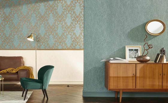 Жилая комната с обоями из коллекции Arcano
