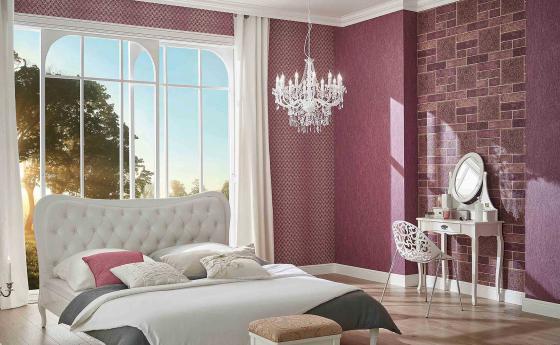 Спальня с обоями из коллекции Arcano