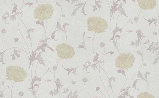 Romantische Blumentapete mit großen Ranukel-Blüten