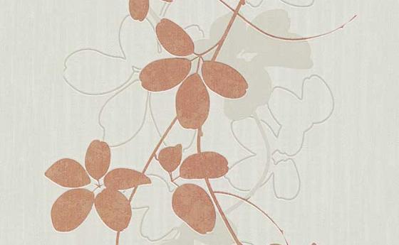 Moderne Blumentapete mit großen Blütenblättern als Panel