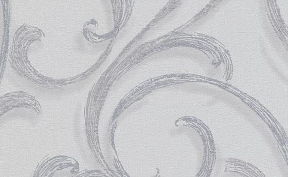 Tapete mit Wellenmuster in Grau