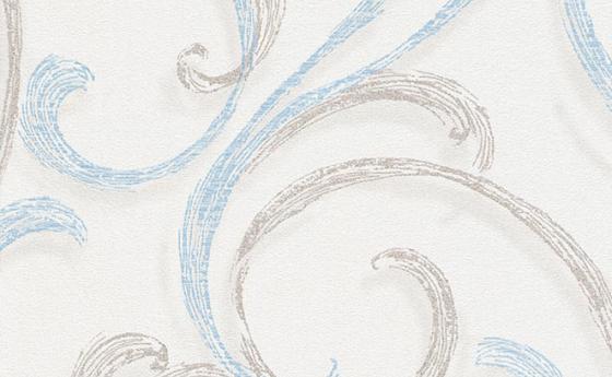 Tapete mit Wellenmuster in Blau
