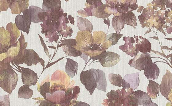 Blumentapete in violett
