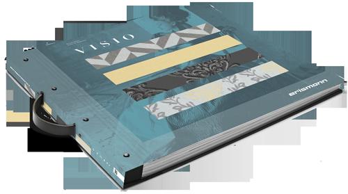 Musterkartenbuch der Tapeten-Kollektion Visio