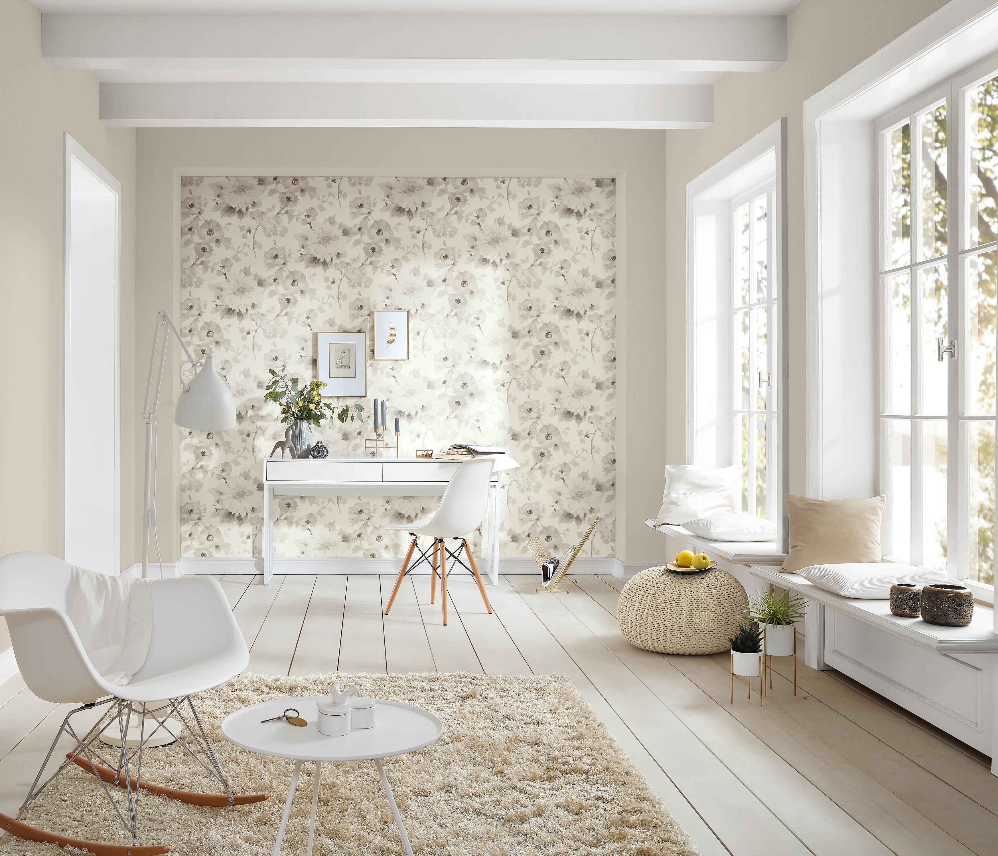 Moderner Arbeitsraum mit Designertapete von Guido Maria Kretschmer