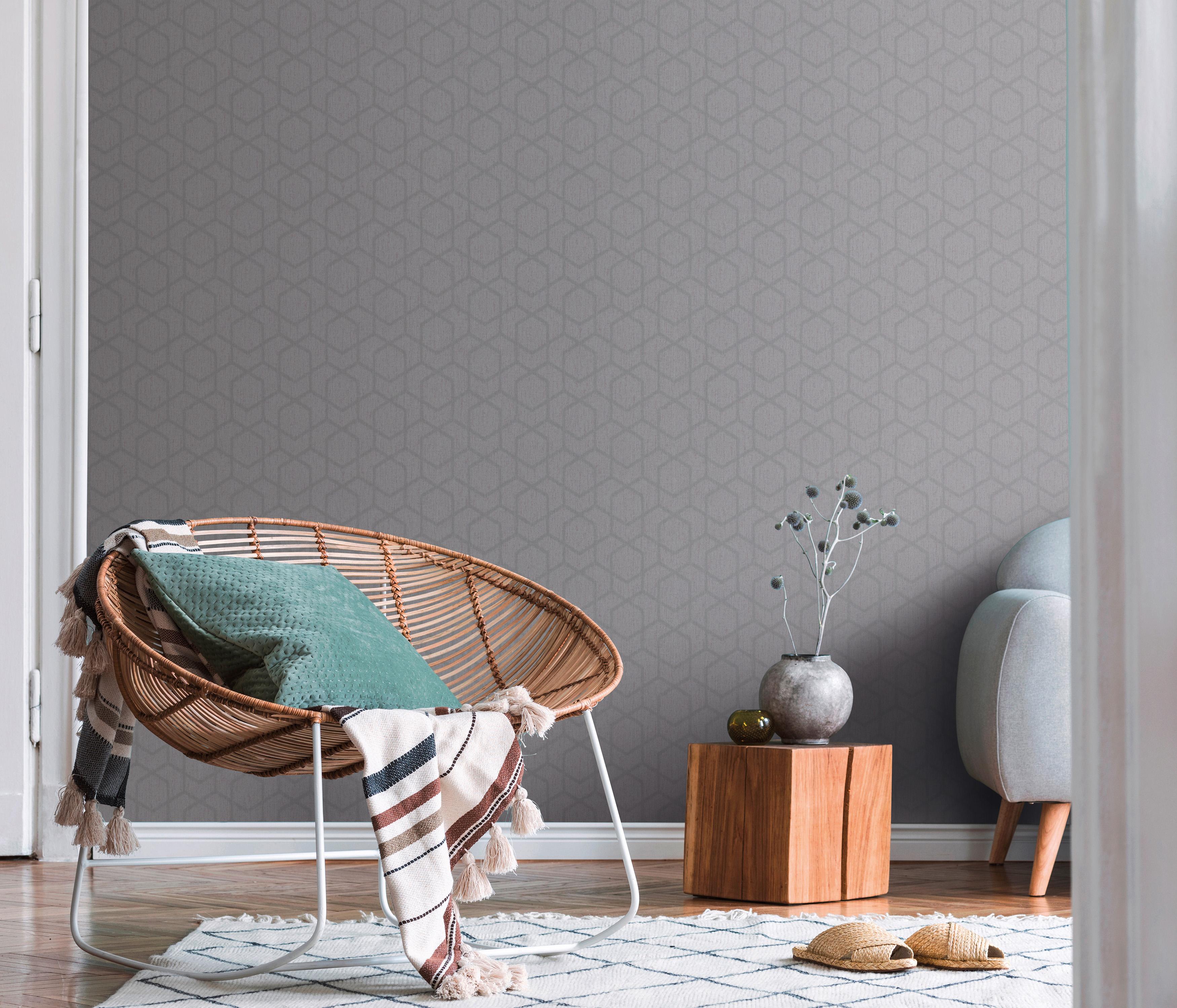 Modernes Zimmer neuer Grafik in erdigen Tönen